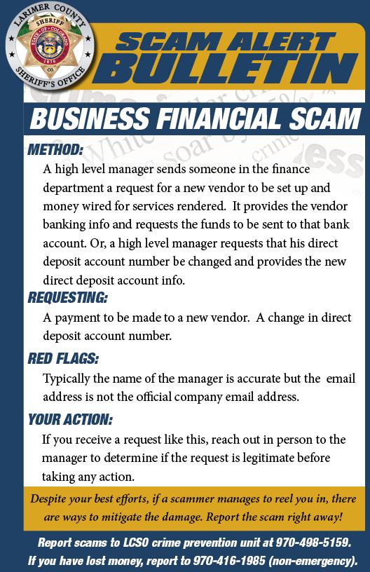 Business Scam Alert