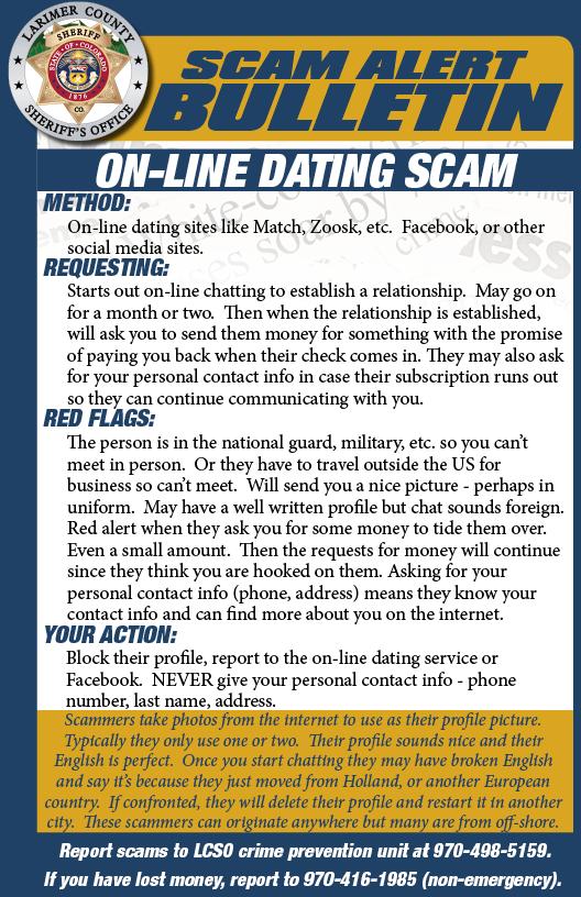 Online dating scam alert