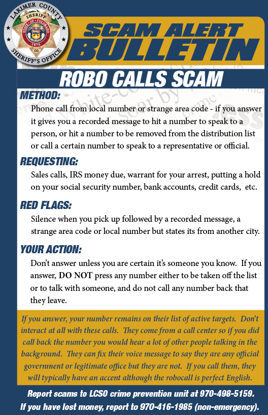 Alerta de estafa de robocall