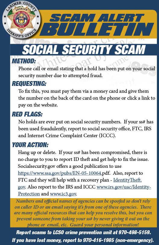 Alerta de estafa de seguridad social