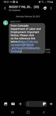 Mensajes de texto fraudulentos