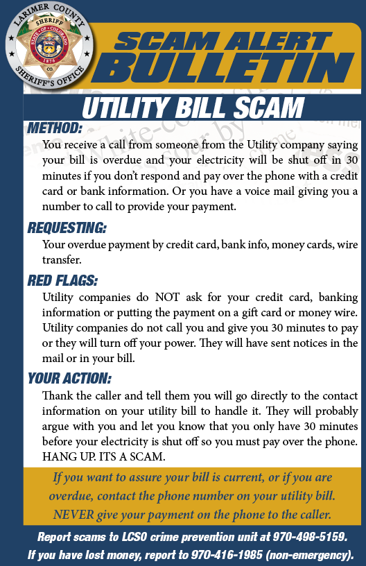 Utility Bill Scam Alert