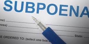Subpoena Status link
