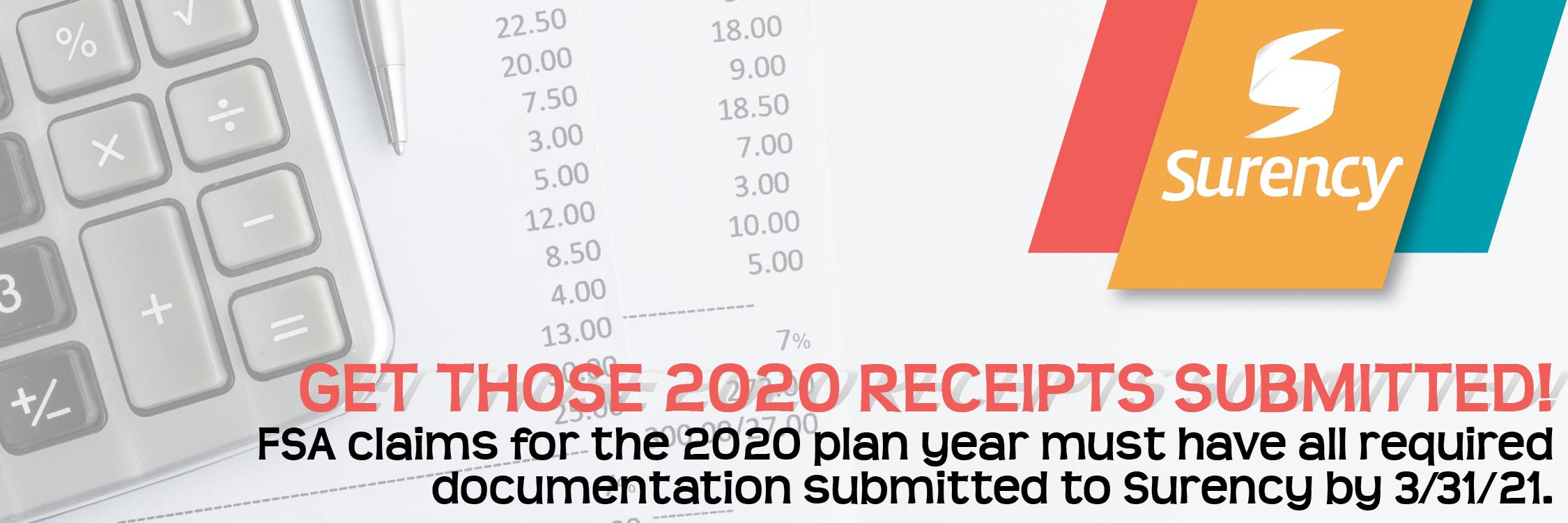 Image 1: 2020 FSA Receipts
