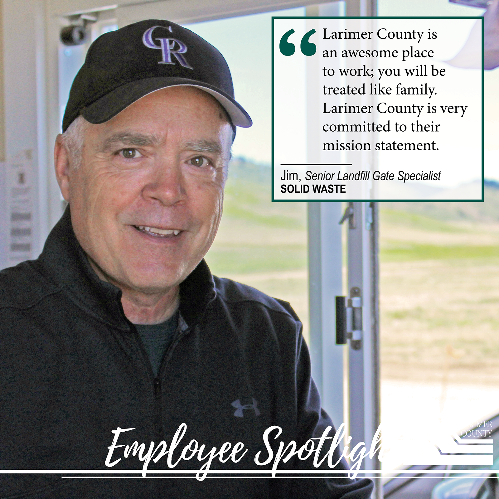 "Image 23: ""The Solid Waste department is an awesome place to work; everyone is treated like family. Larimer County is very committed to their mission statement."""