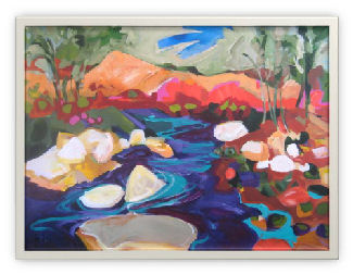 "Image 10: ""The Poudre River"" by Diane Findley, 2009 Visual Artist of the Year"