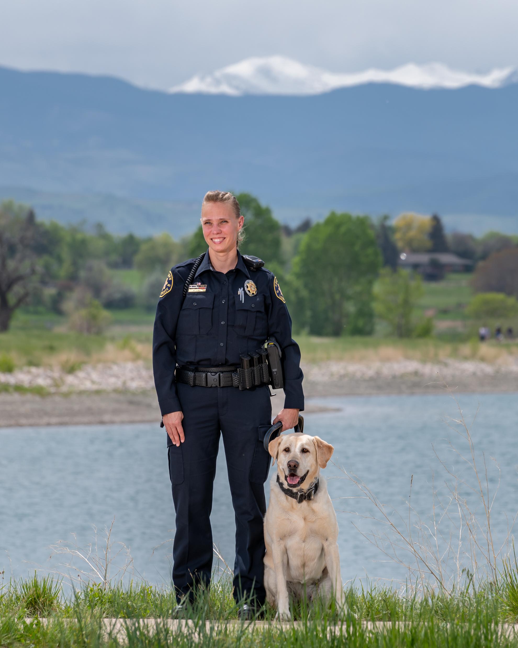Image 6: Deputy Megan Thomas and K9 Maizey (Yellow Lab)