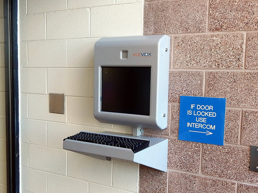 Image 3: Lobby Kiosk for Requesting Inmate Visitation